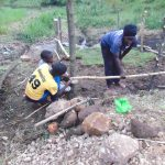 The Water Project: Emurumba Community, Makokha Spring -  Chv Grace Aswani Fencing