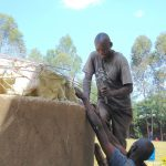 The Water Project: Hobunaka Primary School -  Attaching Dome To Walls