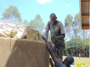 The Water Project:  Attaching Dome To Walls