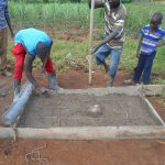 The Water Project: Kalenda B Community, Lumbasi Spring -  Sanitation Slab Work