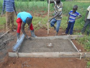 The Water Project:  Sanitation Slab Work