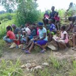 The Water Project: Bukhaywa Community, Shidero Spring -  Training Participants Listen