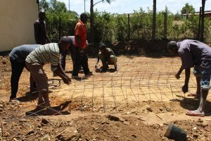 The Water Project:  Preparing Tank Foundation