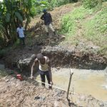 The Water Project: Rosterman Community, Lishenga Spring -  Foundation Measurements