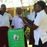 The Water Project: Friends School Ikoli Secondary -  Handwashing Demonstration