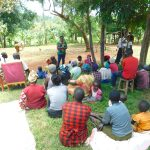 The Water Project: Namarambi Community, Iddi Spring -  Trainer Jacky Kicks Off The Event