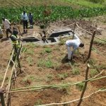 The Water Project: Kalenda A Community, Webo Simali Spring -  Final Touches Over Spring Box