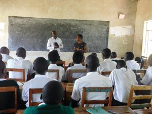 The Water Project:  Sanitation Teacher Addresses Students
