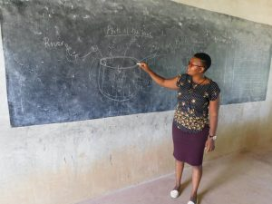 The Water Project:  Facilitator Using Chalk Board Illustrations