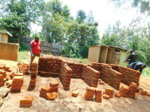 The Water Project:  Latrine Brick Work