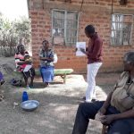 The Water Project: Mwichina Community, Matanyi Spring -  Trainer Samuel In Action