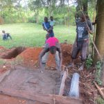 The Water Project: Kalenda A Community, Webo Simali Spring -  Casting The Slab