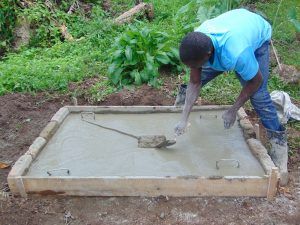The Water Project:  Sanitation Slab Construction