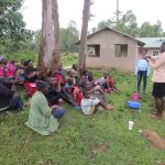 The Water Project: Rosterman Community, Lishenga Spring -  Learning Handwashing Steps