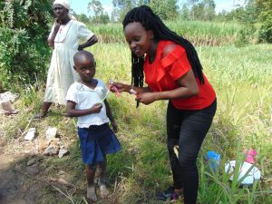 The Water Project:  Trainer Georgina Teaches Toothbrushing