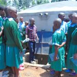 The Water Project: Bumbo Primary School -  Learning Parts Of The Rain Tank