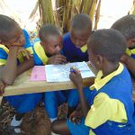 The Water Project: Saride Primary School -  Students In Group Discussions
