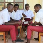 The Water Project: Friends School Ikoli Secondary -  Students In Group Discussion