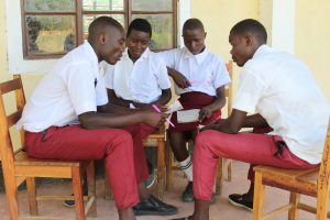 The Water Project:  Students In Group Discussion