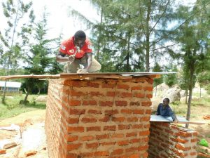 The Water Project:  Securing Latrine Roof