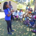 The Water Project: Kalenda A Community, Webo Simali Spring -  Trainer Isabella On Dental Hygiene
