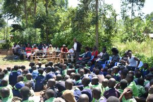 The Water Project:  Speach From Head Teacher During Dedication Ceremony