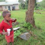 The Water Project: Rosterman Community, Lishenga Spring -  Toothbrushing Volunteer