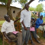 The Water Project: Kalenda B Community, Lumbasi Spring -  Standing To Speak