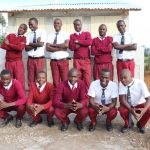 The Water Project: Friends School Ikoli Secondary -  Boys Pose With New Latrines