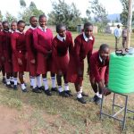 The Water Project: Friends School Ikoli Secondary -  Girls Line Up For Handwashing