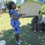 The Water Project: Kalenda A Community, Webo Simali Spring -  Trainer Patience On Handwashing