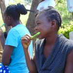 The Water Project: Mubinga Community, Mulutondo Spring -  Participants Imitate Toothbrushing