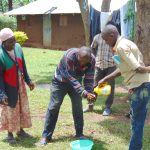 The Water Project: Imusutsu Community, Ikosangwa Spring -  Handwashing Practice