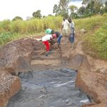 The Water Project: Kalenda A Community, Webo Simali Spring -  Excavating The Stairs