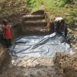 The Water Project: Rosterman Community, Lishenga Spring -  Preparing The Foundation
