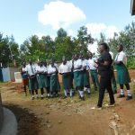 The Water Project: Sawawa Secondary School -  Demonstration On Site Maintenance
