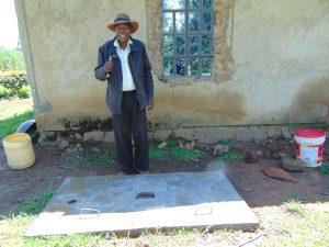 The Water Project:  New Sanitation Slab Owner