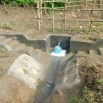 The Water Project: Rosterman Community, Lishenga Spring -  Clean Water Flows At Completed Lishenga Spring