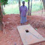 The Water Project: Bukhaywa Community, Shidero Spring -  New Sanitation Slab Owner
