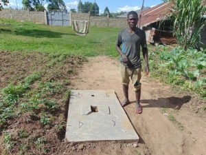 The Water Project:  Owner Of New Sanitation Slab