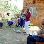 The Water Project: Mwichina Community, Matanyi Spring -  Handwashing Session