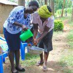 The Water Project: Maondo Community, Ambundo Spring -  Handwashing Practice