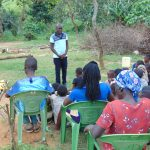 The Water Project: Emurumba Community, Makokha Spring -  Trainer Victor Musemi In Action
