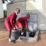 The Water Project: Friends School Ikoli Secondary -  Girls Collecting Water
