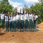 The Water Project: Sawawa Secondary School -  Boys Celebrating New Latrines