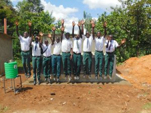 The Water Project:  Boys Celebrating New Latrines