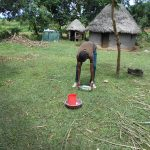 The Water Project: Kalenda B Community, Lumbasi Spring -  Demonstrating Solar Disinfection