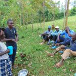 The Water Project: Kitulu Community, Kiduve Spring -  Samuel Leads Handwashing