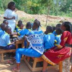 The Water Project: Hobunaka Primary School -  Trainers Check In On A Group