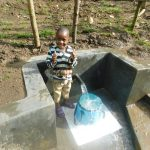 The Water Project: Rosterman Community, Lishenga Spring -  Thumbs Up For Clean Water